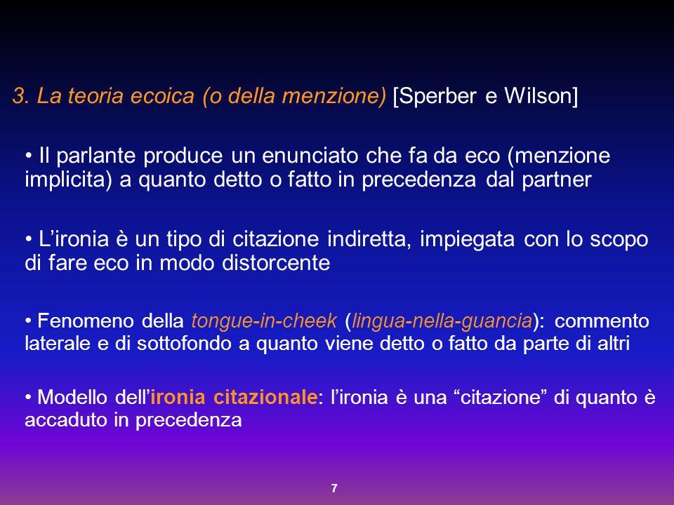La teoria ecoica (o della menzione) [Sperber e Wilson]